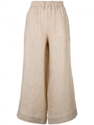 Cropped wide-leg trousers Daniela Gregis. Цвет: телесный
