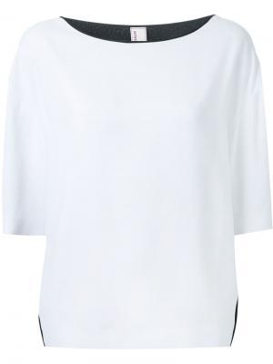 Блузка с контрастными панелями Antonio Marras. Цвет: белый