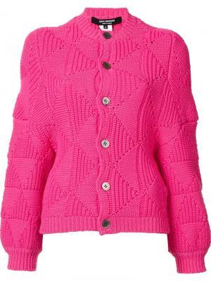Кардиган крупной вязки Junya Watanabe Comme Des Garçons. Цвет: розовый и фиолетовый