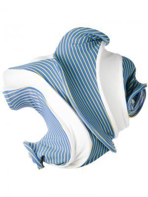 Блузка Twisted Clip-On Chaos Richard Malone. Цвет: синий