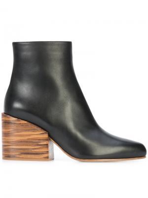 Ботильоны на каблуках-столбиках Gabriela Hearst. Цвет: чёрный