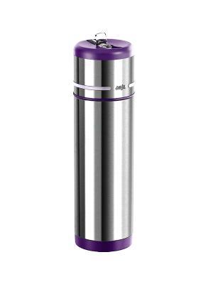 Термос-фляга EMSA MOBILITY 0.35л фиол/нерж 509229. Цвет: серый, фиолетовый