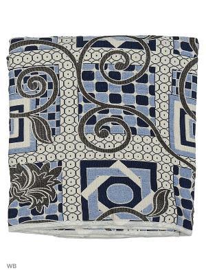 Гобеленовое покрывало ЛЮКС, 150*200 Dorothy's Нome. Цвет: голубой, молочный, коричневый
