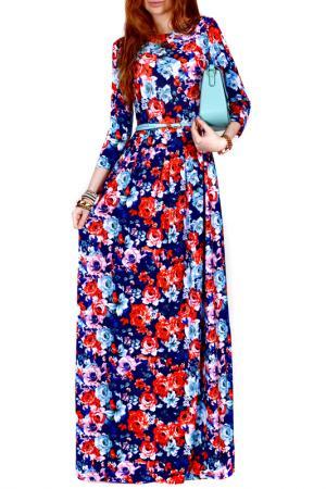 Платье FRANCESCA LUCINI. Цвет: оранжевый, роза