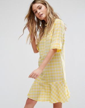 PS Paul Smith Желтое платье в клетку by. Цвет: желтый