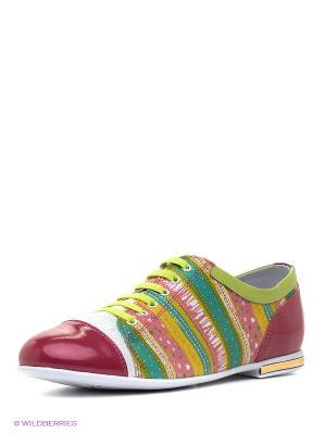 Ботинки ELEGAMI. Цвет: салатовый, фуксия