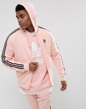Adidas Originals Розовая спортивная куртка Superstar BS4491. Цвет: розовый