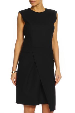 Платье без рукавов Salvatore Ferragamo. Цвет: темно-синий