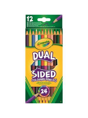 Набор 12 двухсторонних карандашей Crayola. Цвет: желтый