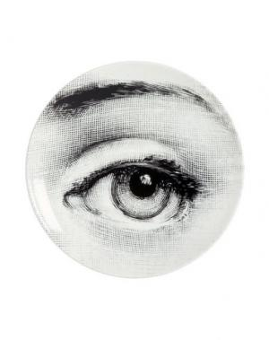 Декоративная тарелка FORNASETTI. Цвет: белый