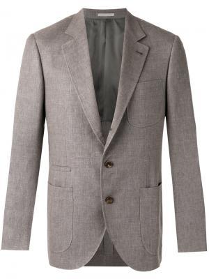 Блейзер с карманами Brunello Cucinelli. Цвет: коричневый