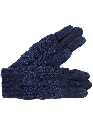 Перчатки J&Elisabeth. Цвет: синий