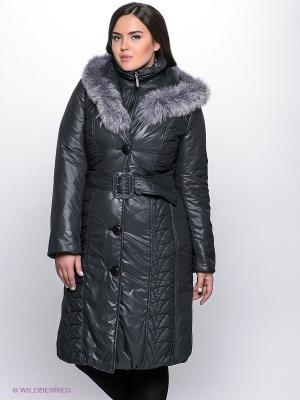 Пальто Electrastyle. Цвет: серо-зеленый