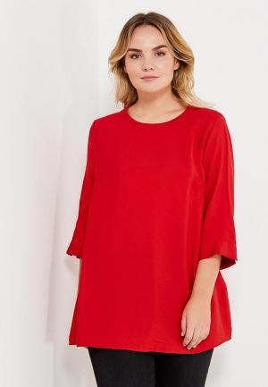 Блуза Ulla Popken. Цвет: красный