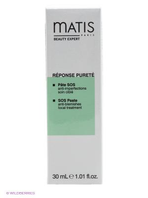 Линия для жирной кожи паста лица SOS, 30 мл Matis. Цвет: белый, светло-зеленый
