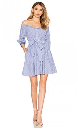 Платье brittany Tanya Taylor. Цвет: синий
