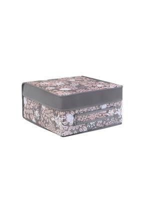 Кофр складной малый (жесткий) Серебро COFRET. Цвет: серый, розовый, белый