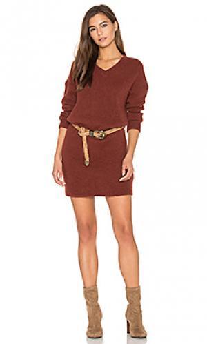 Платье свитер vacaville American Vintage. Цвет: ржавый