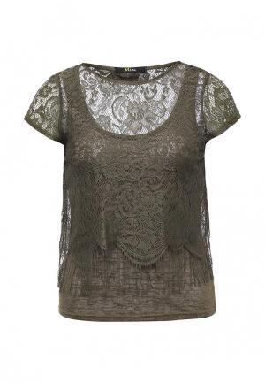 Блуза Mim. Цвет: хаки