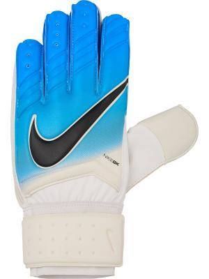 Вратарские перчатки NIKE GK SPYNE PRO FA16. Цвет: белый, лазурный