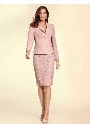 Кружевная юбка PATRIZIA DINI by Heine. Цвет: розовый