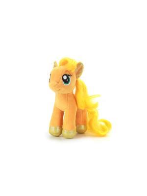 Мягкая Игрушка Мульти-Пульти my little pony. пони Эпплджек. Цвет: желтый