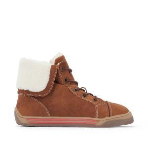 Ботинки с меховой подкладкой и амортизирующей подошвой 26-36 La Redoute Collections. Цвет: темно-бежевый