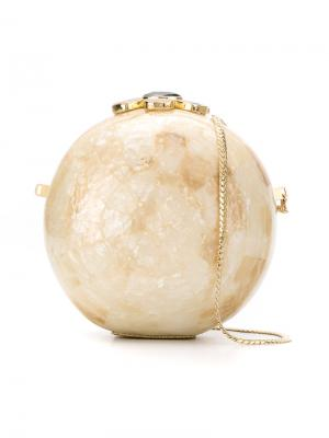 Mother-of-pearl clutch Serpui. Цвет: телесный
