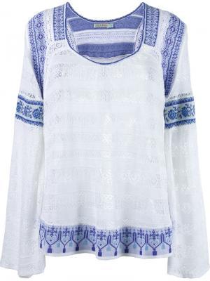 Вязаная блузка Cecilia Prado. Цвет: белый