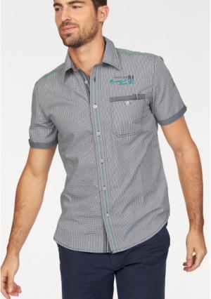 Рубашка с короткими рукавами Rhode Island. Цвет: синий/белый в клетку