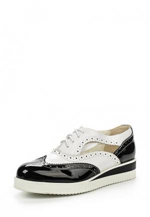 Ботинки Gioia. Цвет: черно-белый