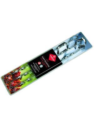 Набор шампуров малых в блистере  (6шт) Forester. Цвет: серебристый