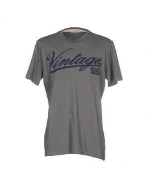 Футболка VINTAGE 55. Цвет: серый