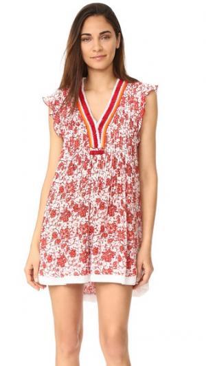 Мини-платье Sasha Poupette St Barth. Цвет: оранжевый