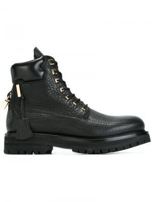 Армейские ботинки Buscemi. Цвет: чёрный