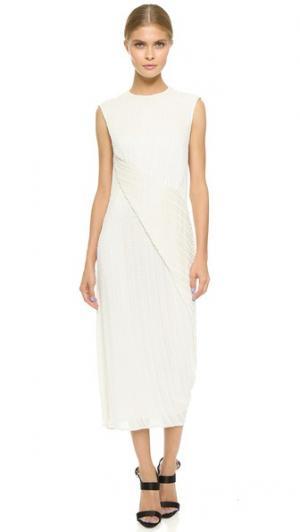 Драпированное платье, расшитое бусинами Jason Wu. Цвет: мел