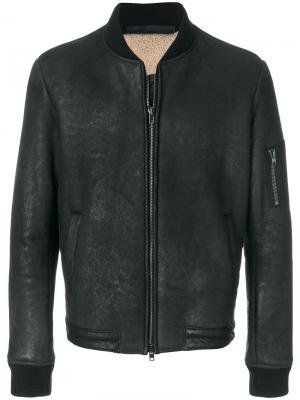 Куртка-бомбер Salvatore Santoro. Цвет: чёрный