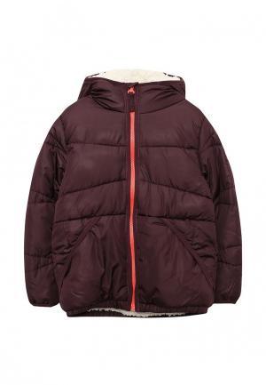 Куртка утепленная Esprit. Цвет: бордовый