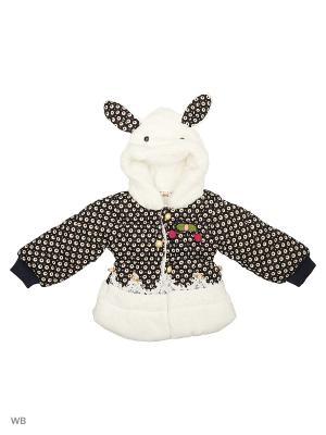 Куртка Happy Bear. Цвет: черный, белый