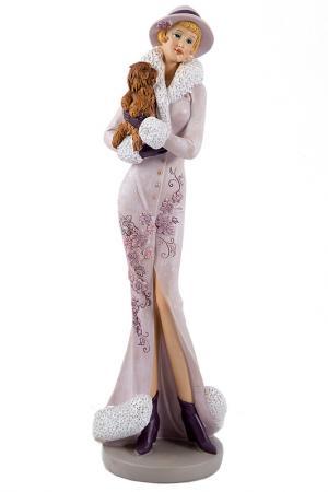 Статуэтка Мисс Изысканность Русские подарки. Цвет: лиловый