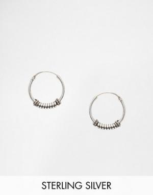 Kingsley Ryan Серебряные серьги‑кольца 13 мм. Цвет: серебряный