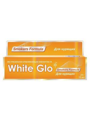 Зубная паста отбеливающая  для курящих White Glo. Цвет: желтый