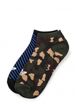 Носки adidas Originals. Цвет: разноцветный