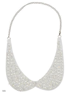 Ожерелье-воротник Bizon. Цвет: белый