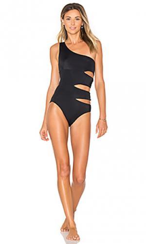 Слитный купальник delphine OYE Swimwear. Цвет: черный