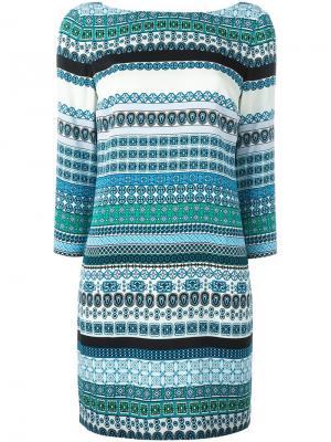 Платье New Avery Diane Von Furstenberg. Цвет: многоцветный