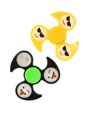 Спиннер, 2 шт. Happy Charms Family. Цвет: желтый, зеленый, черный