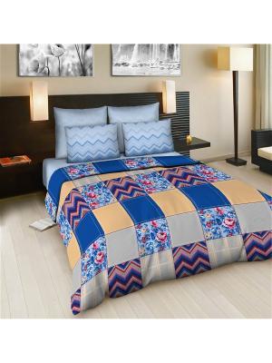 Комплект постельного белья Amore Mio  Dady BL 2 сп.. Цвет: бежевый,красный,синий