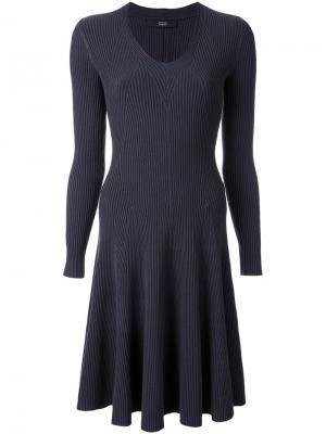 Расклешенное платье Steffen Schraut. Цвет: серый