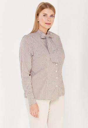 Блуза Moe L&L. Цвет: коричневый
